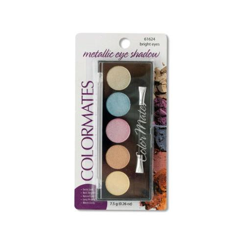Colormates Bright Eyes Metallic Eye Shadow Compact ( Case of 72 )