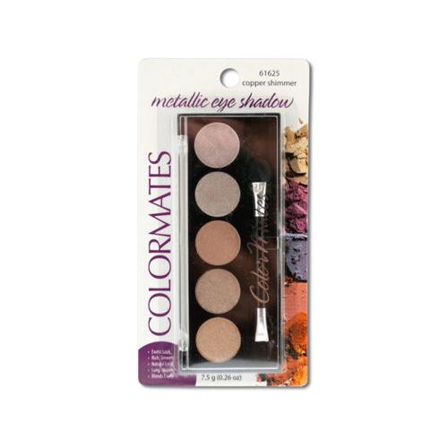 Colormates Copper Shimmer Metallic Eye Shadow Compact ( Case of 48 )