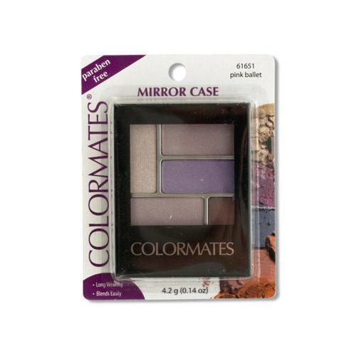 Colormates Pink Ballet Mirror Case Eye Shadow ( Case of 72 )