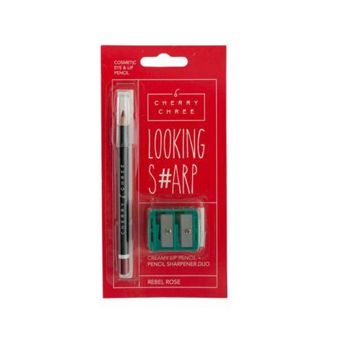 Looking Sharp Lip & Eye Pencil & Sharpener Duo ( Case of 48 )