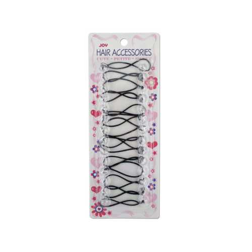 Small Clear Ball Ponytail Holders ( Case of 24 )