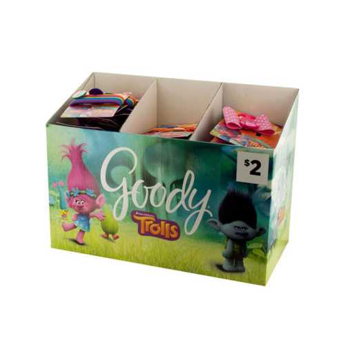 Goody Girls Trolls Hair Accessories Countertop Display ( Case of 24 )