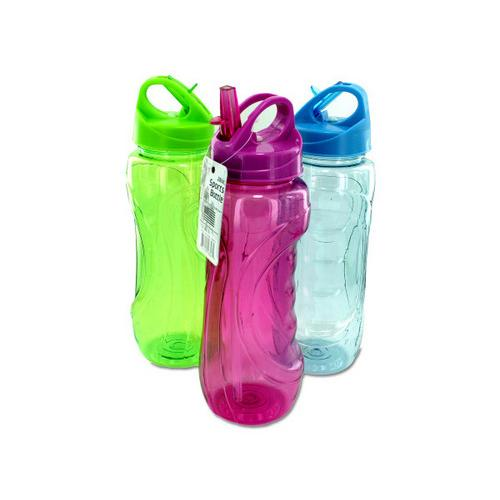 28 oz Sports Water Bottle with Flip Straw ( Case of 12 )
