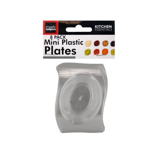 Clear Mini Plastic Plates Set ( Case of 12 )