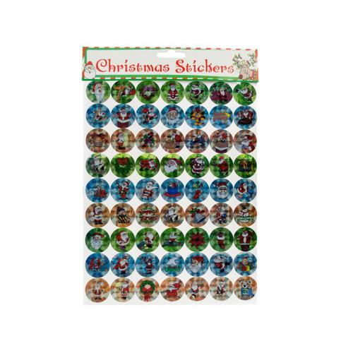 Holographic Christmas Stickers Set ( Case of 24 )