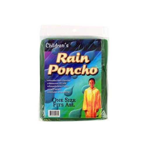 Children's Hooded Rain Poncho ( Case of 72 )