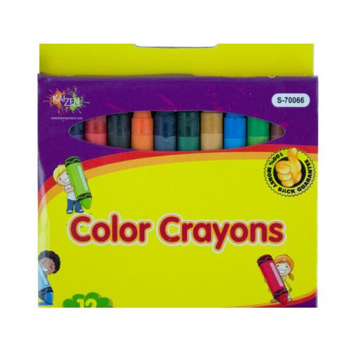 Color Crayons Set ( Case of 48 )