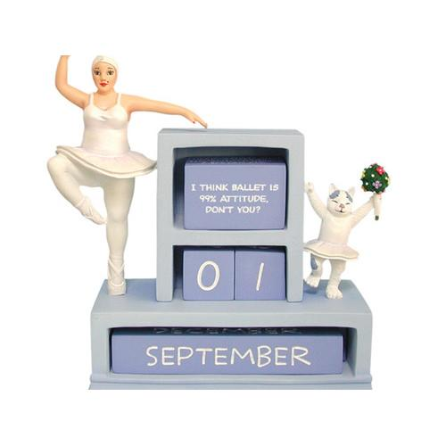 Ballerina Perpetual Calendar Figurine ( Case of 4 )