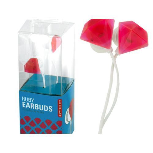 Ruby Jewel Earbuds ( Case of 24 )