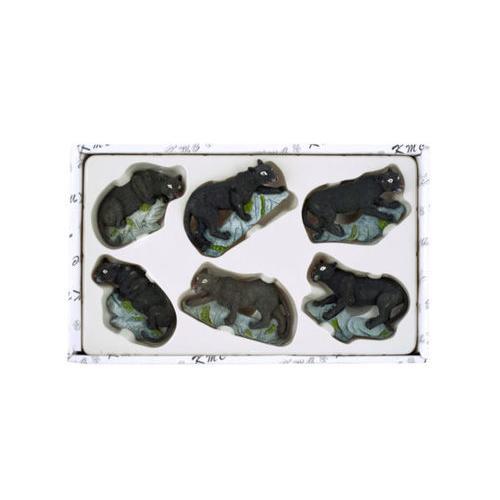 Decorative Black Leopard Magnets Set ( Case of 12 )