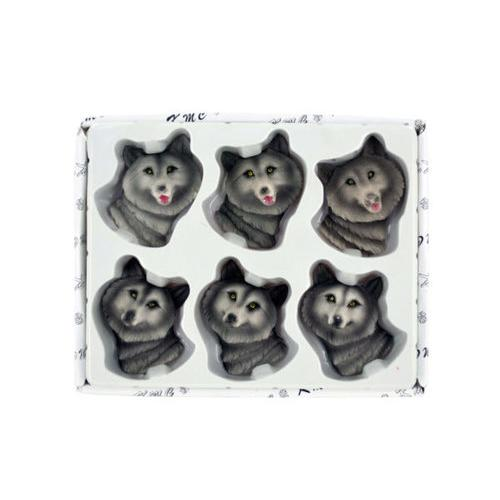 Decorative Wolf Magnets Set ( Case of 36 )