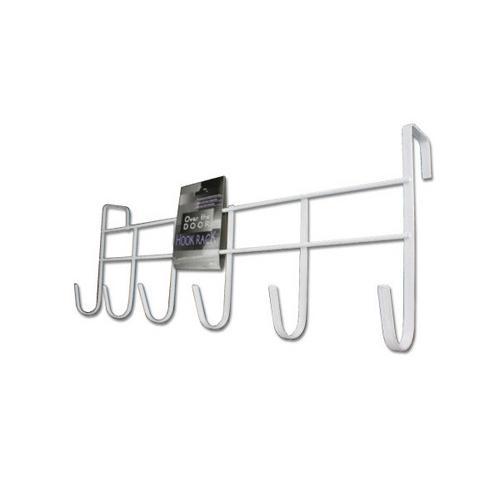 White Over The Door Hook Rack ( Case of 20 )