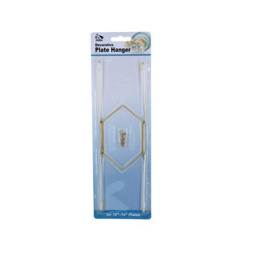 Large Brass-Plated Decorative Plate Hanger ( Case of 24 )
