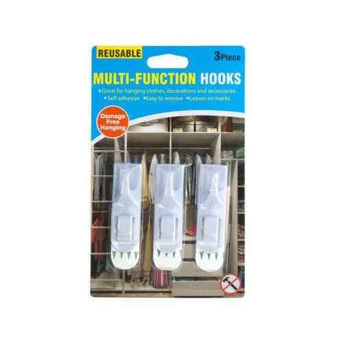 Reusable Multi-Function Hooks Set ( Case of 20 )
