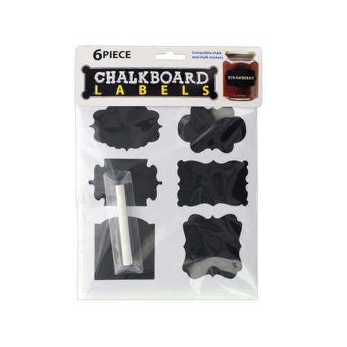 Self-Adhesive Chalkboard Labels ( Case of 40 )