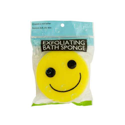 Emoticon Bath Sponge ( Case of 20 )
