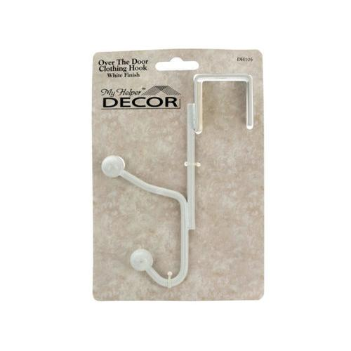 White Over the Door Clothing Hook ( Case of 18 )