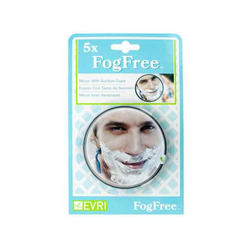 5x FogFree Mirror with Suction Cups ( Case of 60 )