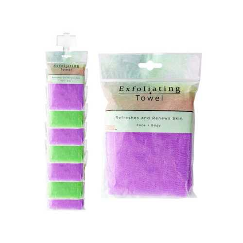 Exfoliating Shower Towel Clip Strip ( Case of 60 )