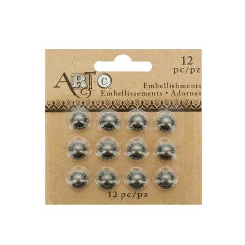 Antique Silver Craft Embellishment Studs Set ( Case of 36 )