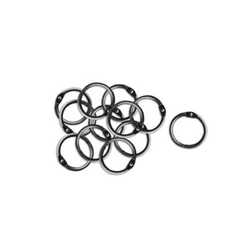 Antique Silver Craft Embellishment Rings ( Case of 36 )
