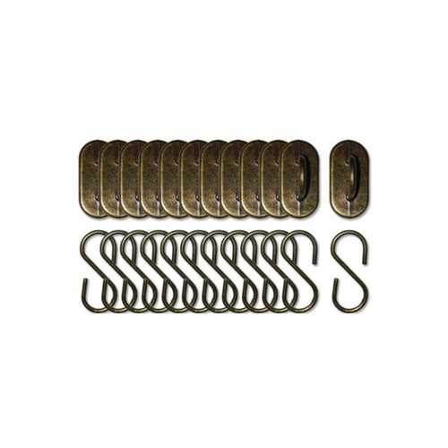 Antique Brass Hangers Craft Embellishment Set ( Case of 108 )