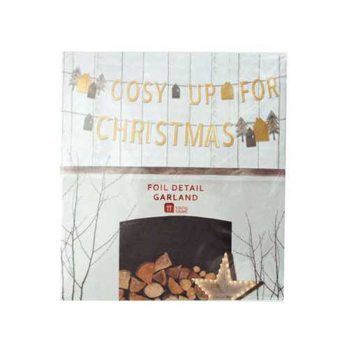 'Cosy Up for Christmas' Foil Detail Banner ( Case of 40 )