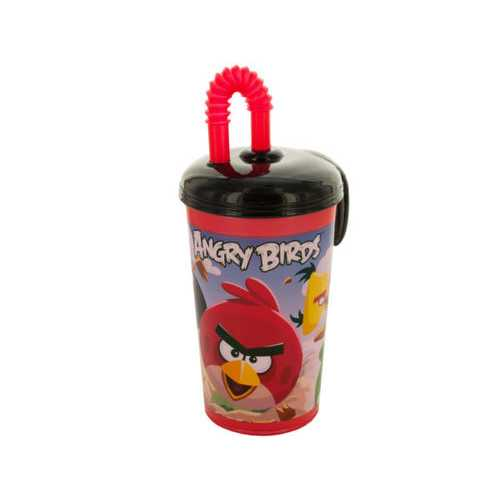 15 oz Angry Birds Sports Tumbler with Straw ( Case of 24 )
