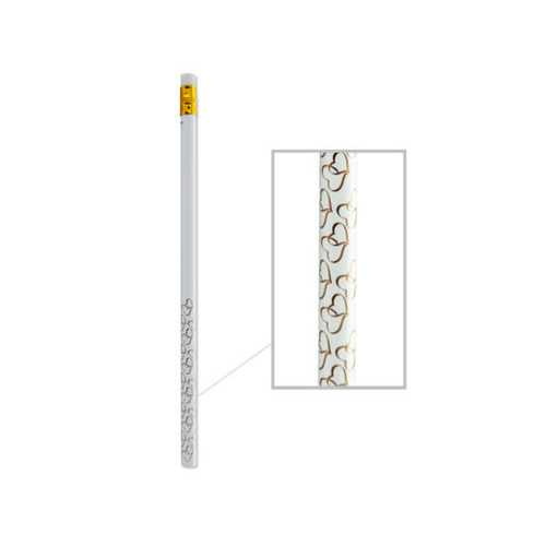 Gold Two Hearts Wedding Prize Pencils ( Case of 12 )