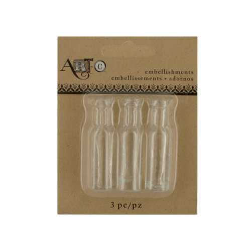 Mini Clear Craft Wine Bottle Set ( Case of 40 )