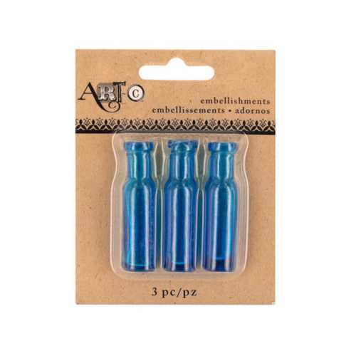 Mini Blue Craft Wine Bottle Set ( Case of 40 )