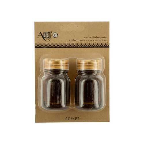 Brown Mini Craft Mason Jar Set ( Case of 40 )