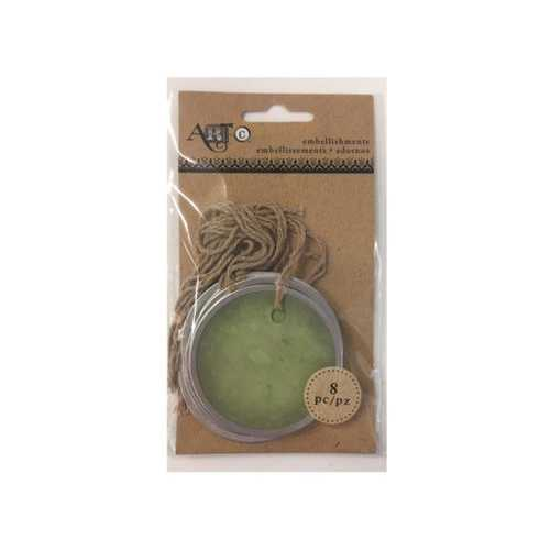 Round Metal Rimmed Craft Tags ( Case of 36 )