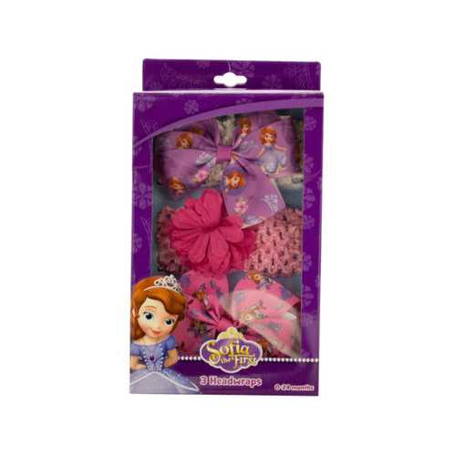 Sofia the First Headwraps with Bows Set ( Case of 48 )