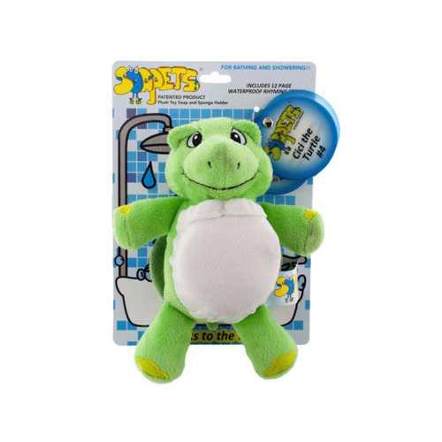 Cici the Turtle Soapets Plush Toy Soap & Sponge Holder ( Case of 12 )