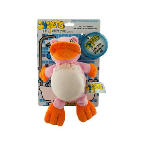 Lela the Platypus Soapets Plush Toy Soap & Sponge Holder ( Case of 24 )