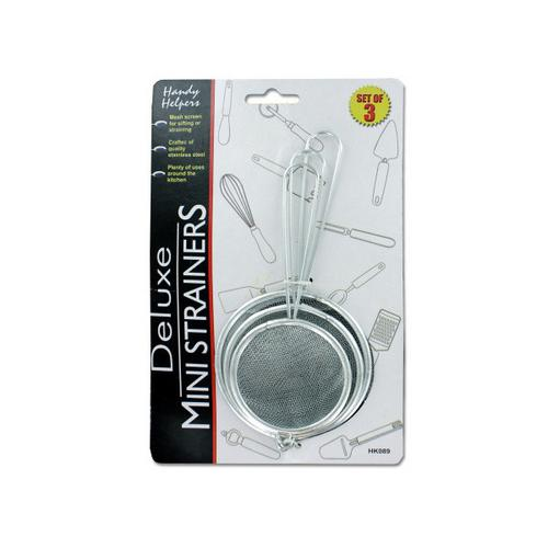 Stainless Steel Mini Strainer Set ( Case of 12 )