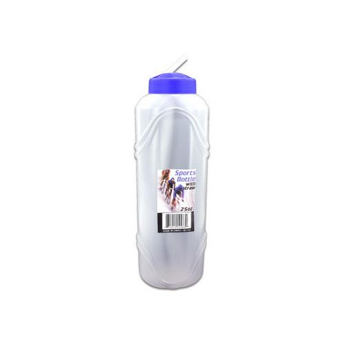 25 oz Sports Water Bottle with Straw ( Case of 72 )