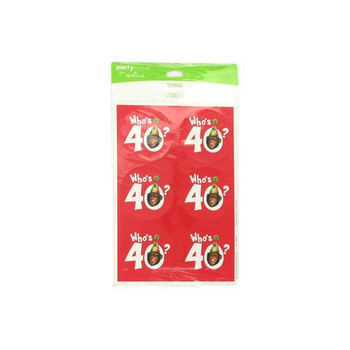 Who's 40 Monkey Around Stickers ( Case of 48 )