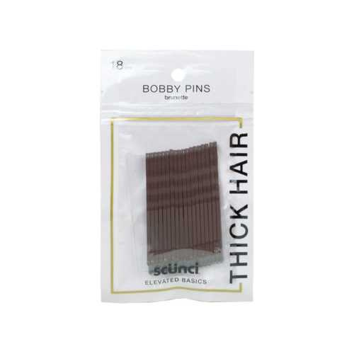 18 Pack Brown Bobby Pins ( Case of 24 )