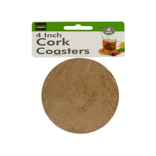 Cork Beverage Coasters Set ( Case of 48 )