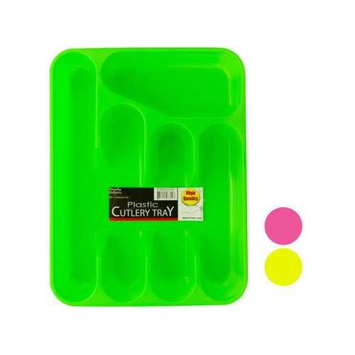 Five Section Plastic Cutlery Tray ( Case of 48 )