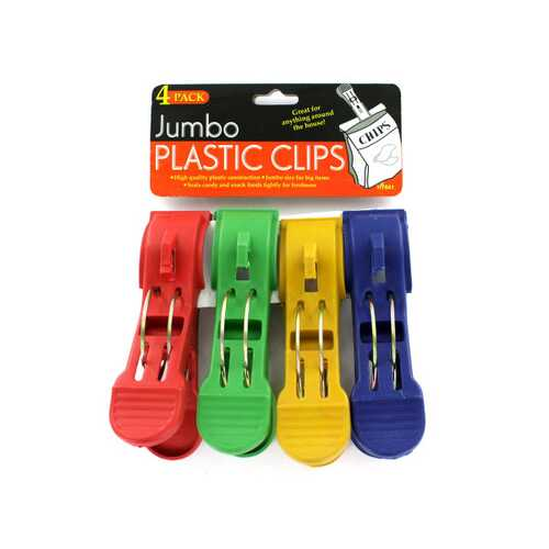 Jumbo Plastic Clips ( Case of 48 )