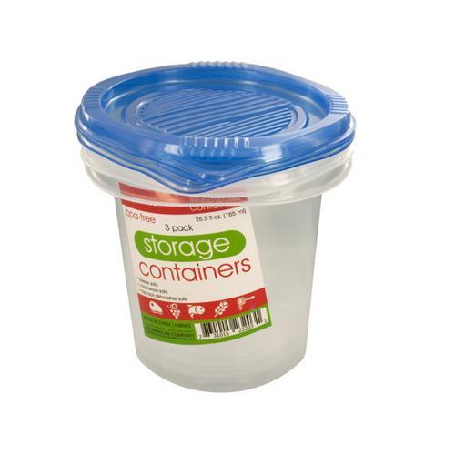 265 oz Round Food Storage Container Set ( Case of 24 )