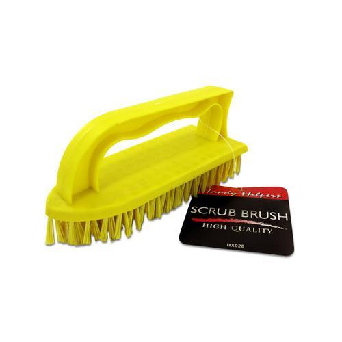 Iron-Shaped Scrub Brush with Handle ( Case of 24 )