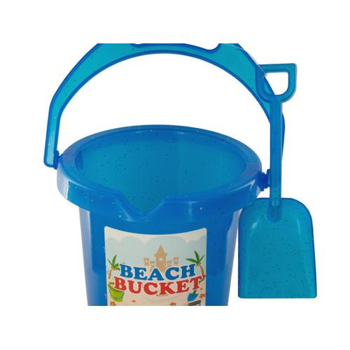 Glitter Beach Bucket with Shovel ( Case of 48 )