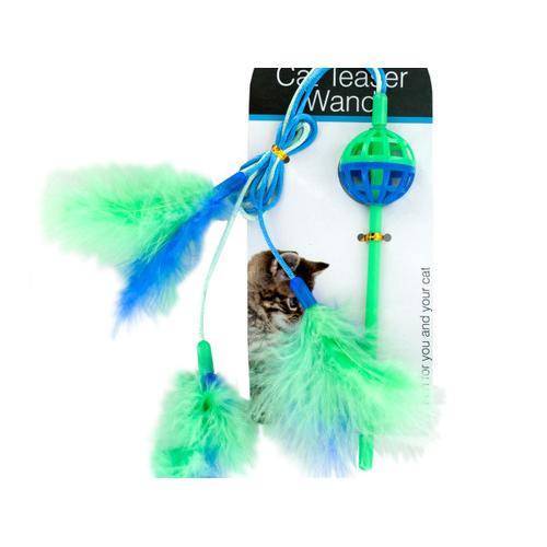 Cat Teaser Wand with Feathers ( Case of 72 )