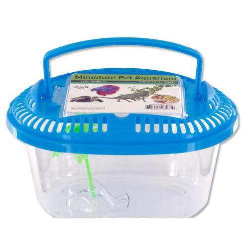 Miniature Pet Aquarium with Handle ( Case of 72 )