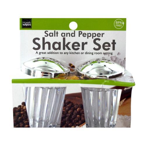 Crystal Look Salt & Pepper Shaker Set ( Case of 12 )