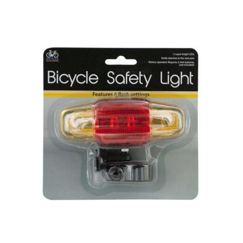 Flashing LED Bicycle Safety Light ( Case of 12 )